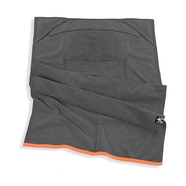 Ręcznik plażowy One Moe Grey, 90x180 cm