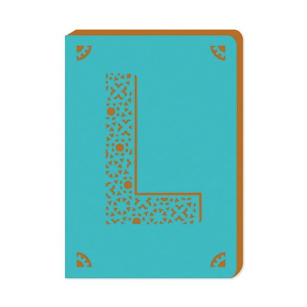 Notatnik w linie A6 z monogramem Portico Designs L, 160str.