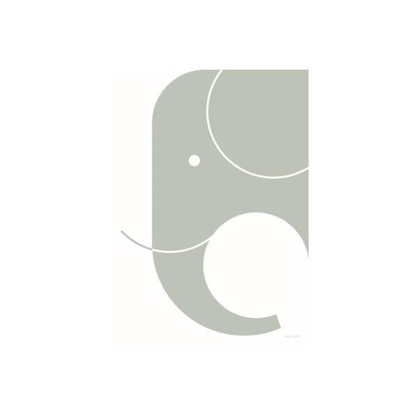 Plakat SNUG.Elephant, 50x70 cm, jasnoszary