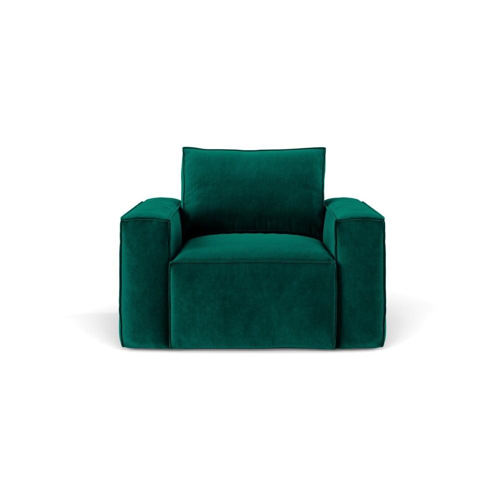 Ciemnozielony fotel Cosmopolitan Design Florida