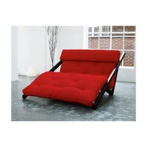 Szezlong Karup Figo, Wenge/Red, 120 cm