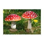 Zestaw 2 dekoracyjnych muchomorów Boltze Mushroom
