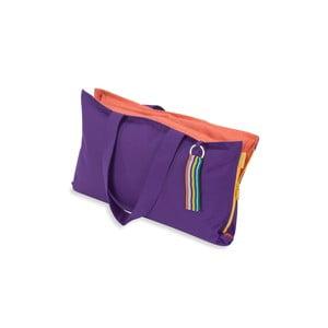 Przenośne siedzisko + torba Hhooboz 50x60 cm, fioletowe