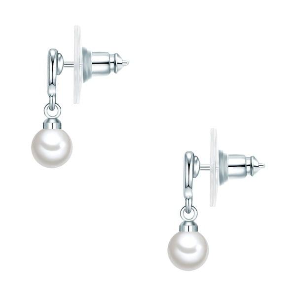 Kolczyki z białych pereł Perldesse Sei, ⌀ 6 mm