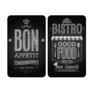 Zestaw 2 szklanych płyt na kuchenkę Wenko Bon Appetit