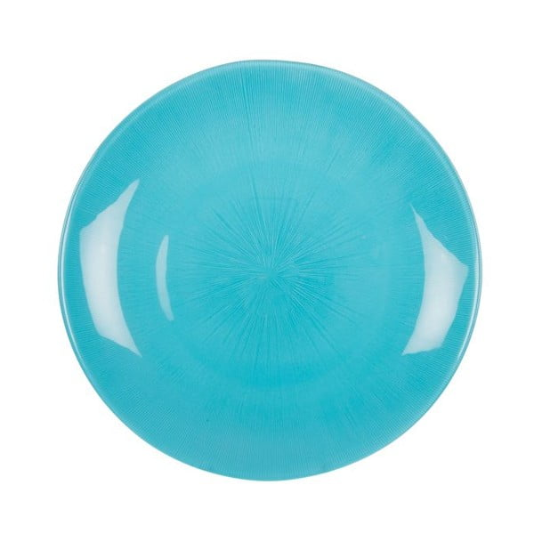 Komplet 18 talerzy ceramicznych Milano Blue
