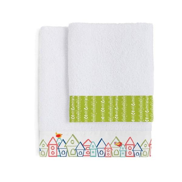 Zestaw 2 ręczników Birdhouse, 50x100 i 70x140 cm