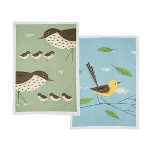 Zestaw 2 ścierek kuchennych Magpie Birdy Thrush