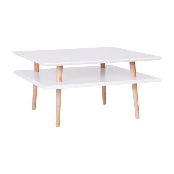 Biały stolik Ragaba Square, 68x68 cm
