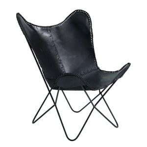 Czarny fotel skórzany Fuhrhome Amazon