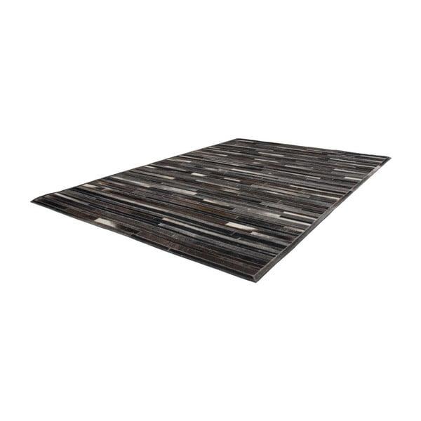 Brązowy skórzany dywan Eclipse, 80x150cm