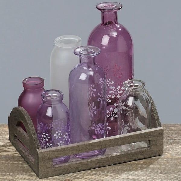 Taca z 6 naczyniami Purple Vase