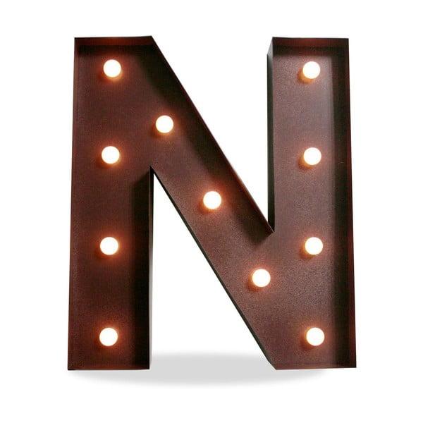 Świecąca dekoracja LED Letter N