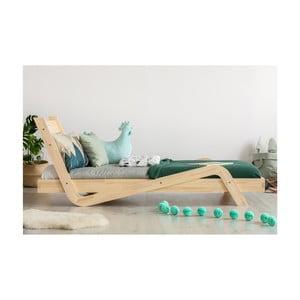 Łóżko dziecięce z drewna sosnowego Adeko Zigzag, 100x180 cm