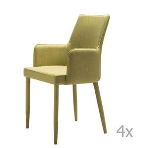 Zestaw 4 zielonych krzeseł 13Casa Karl