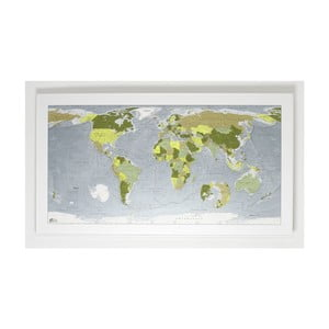 Mapa świata The Future Mapping Company Colour World Map, 130x72 cm, zielona