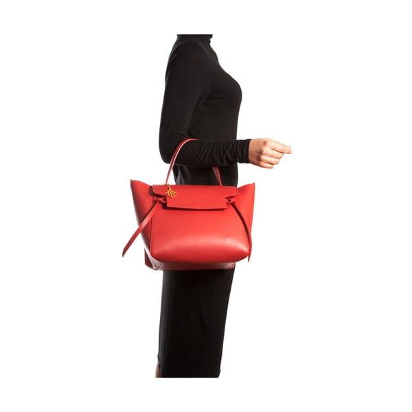 Skórzana torebka Isabella Rhea 394, czerwona