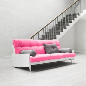 Sofa rozkładana Karup Indie White/Magenta/Amarillo