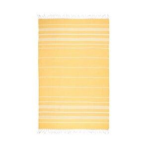 Żółty ręcznik hammam Kate Louise Classic, 180x100 cm