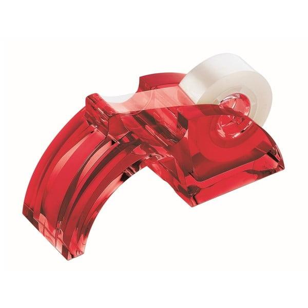 Czerwony dyspenser do taśmy biurowej Fratelli Guzzini