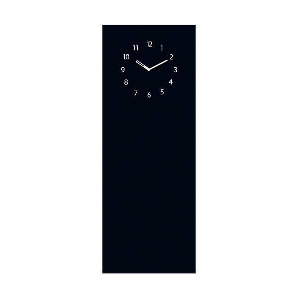 Tablica magnetyczna z zegarem Eurographic Black Clock, 30x80 cm