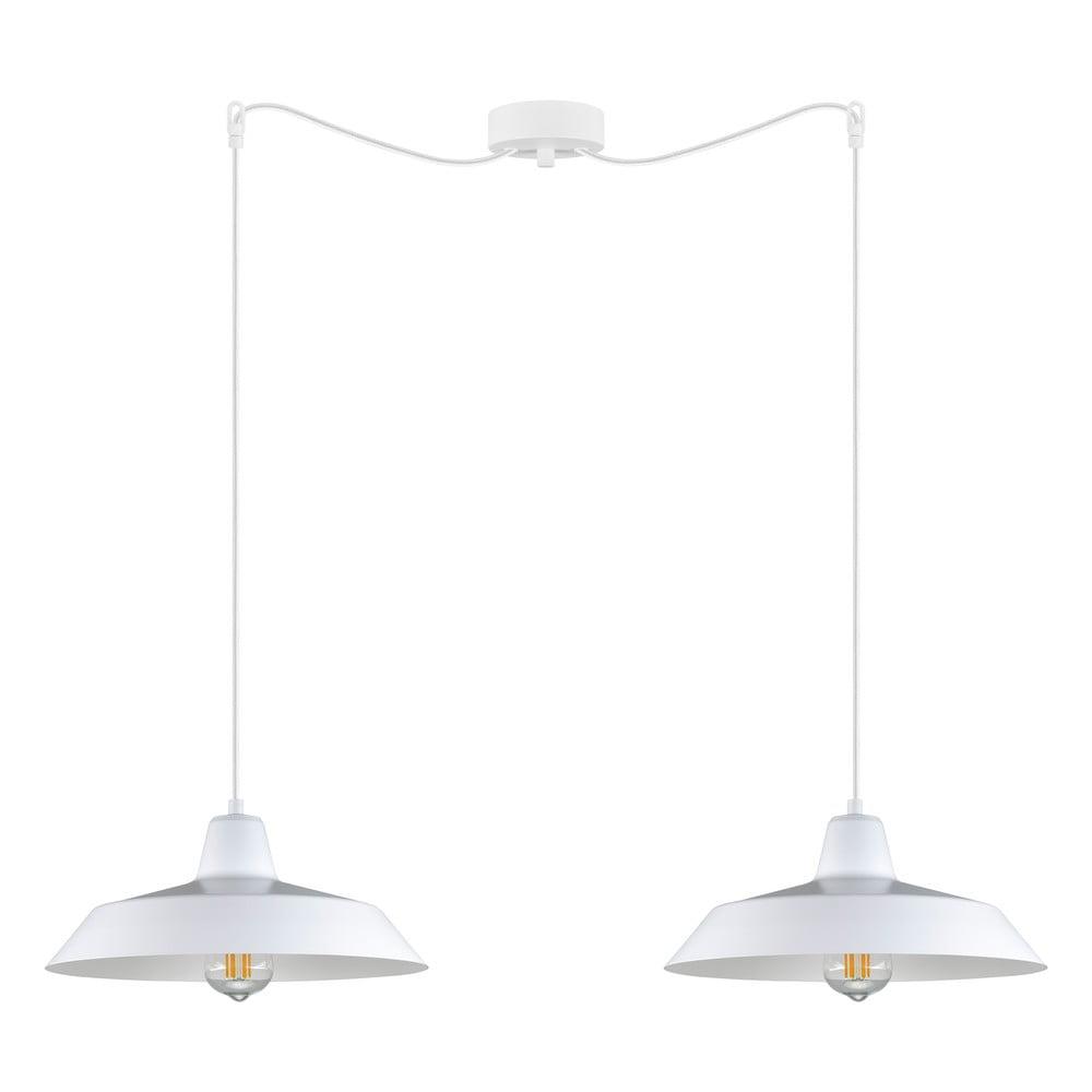 Biała podwójna lampa wisząca Bulb Attack Cinco