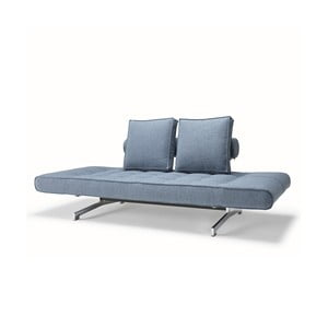 Niebieska sofa regulowana Innovation Ghia