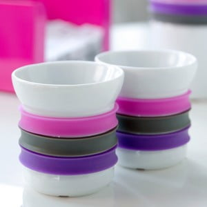 Zestaw 2 kubeczków porcelanowych na herbatę Steel Function Espresso