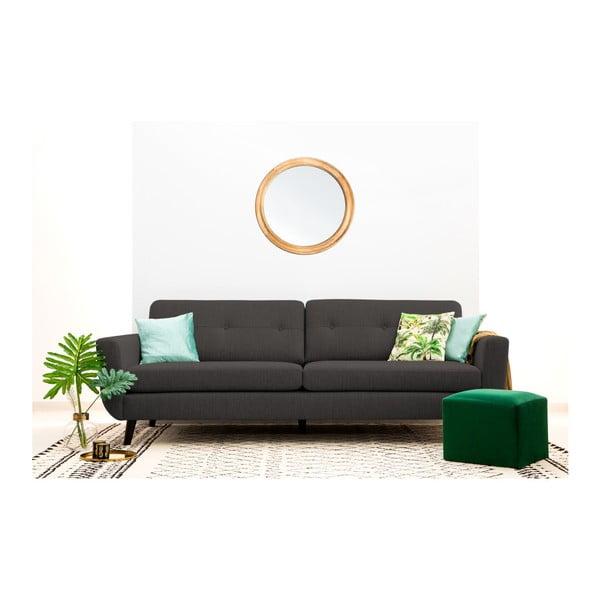 Antracytowa sofa 3-osobowa Vivonita Harlem XL