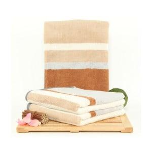 Zestaw 3 ręczników Peggy Nougat, 50x100 cm