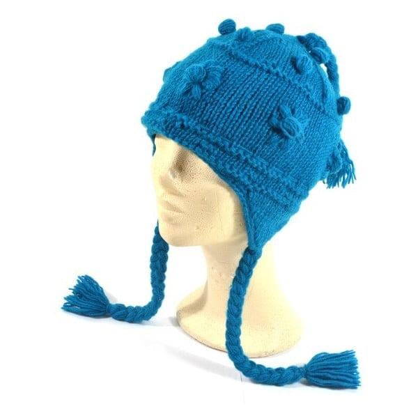 Wełniana czapka z uszami Blue Decor