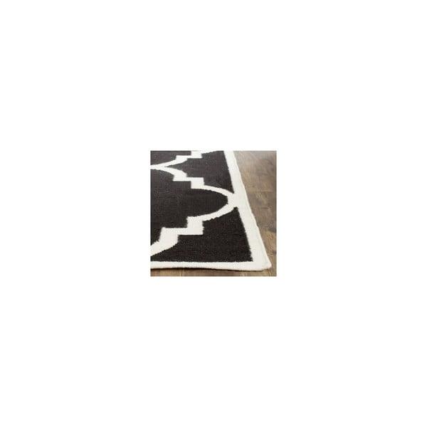 Wełniany dywan Alameda 121x182 cm, czarny