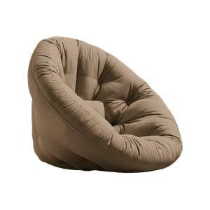 Rozkładany fotel z brązowym obiciem Karup Design Nest Mocca