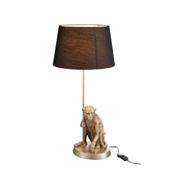 Lampa stołowa Monkey, czarny abażur