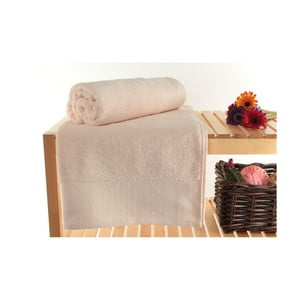 Zestaw 2 pudrowych ręczników kąpielowych ze 100% bawełny Patricik Powder, 90x150 cm