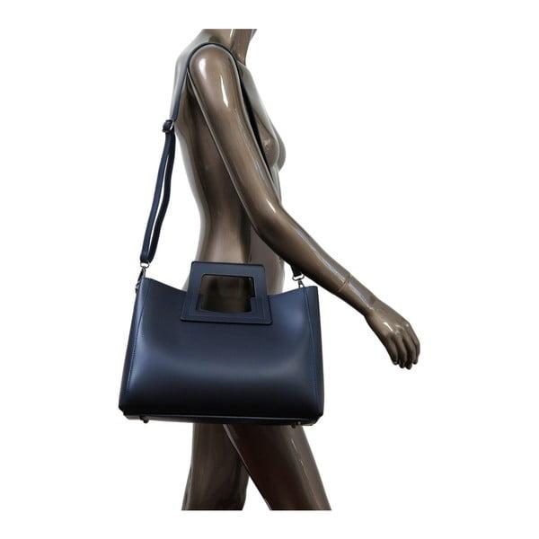 Ciemnoniebieska torebka skórzana Andrea Cardone Pietro