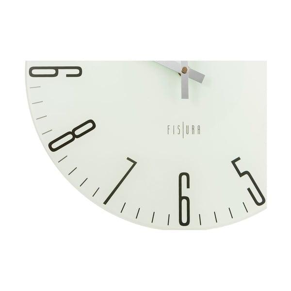 Zegar Slim White, 35 cm