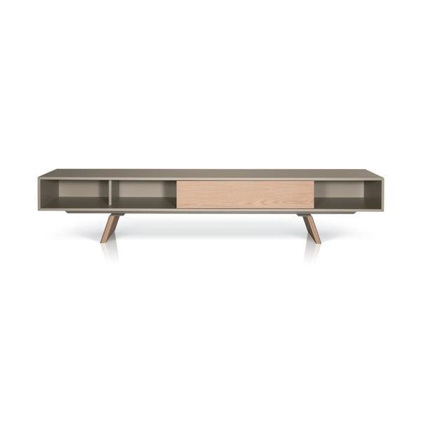 Beżowy stolik dębowy  pod TV E-klipse AL2, 200cm