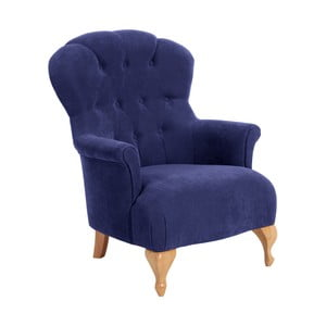 Niebieski fotel Max Winzer Camilla Velor