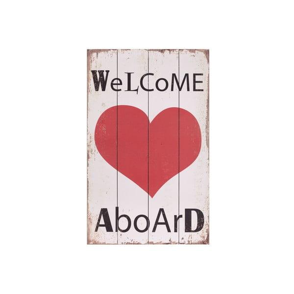 Obraz drewniany Artesania Esteban Ferrer Welcome Aboard
