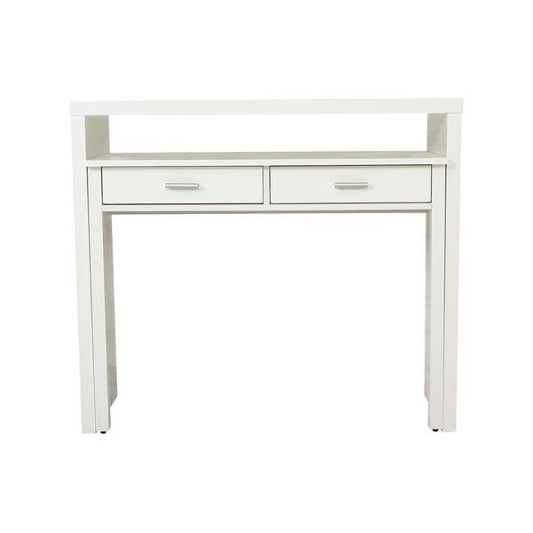 Biała konsola/biurko wysuwane Konsola Woodman Desk