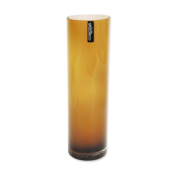 Szklany wazon Tube, pomarańczowy