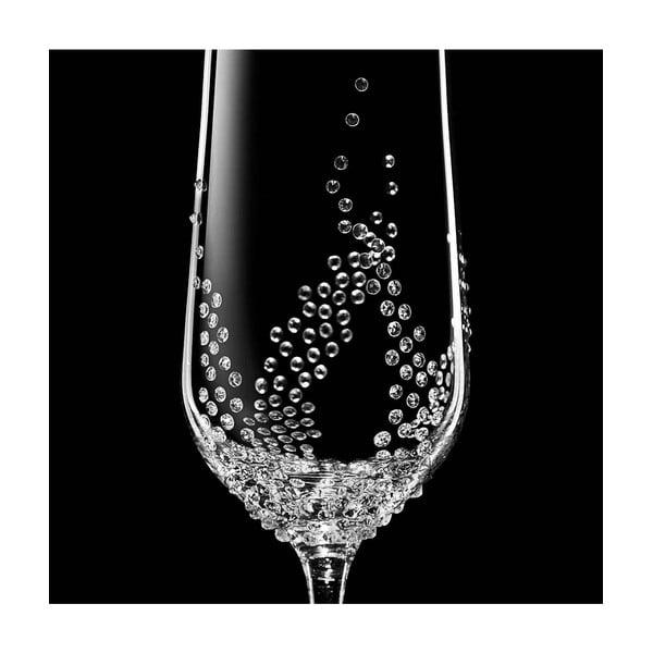 Zestaw 2 kieliszków do szampana Maia ze Swarovski Elements