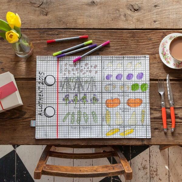 Dwustronna mata stołowa do kolorowania Doodle