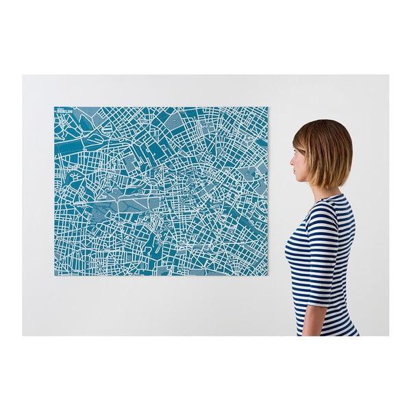 Niebieska mapa ścienna Palomar Pin Berlin
