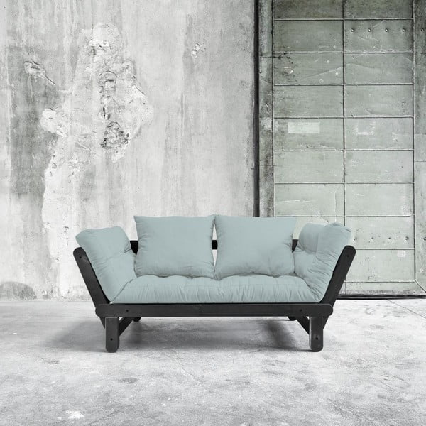 Sofa rozkładana Beat Black/Sky Blue