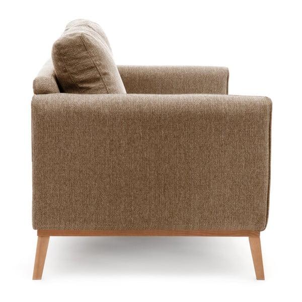 Jasnobrązowa sofa 3-osobowa Vivonita Milton