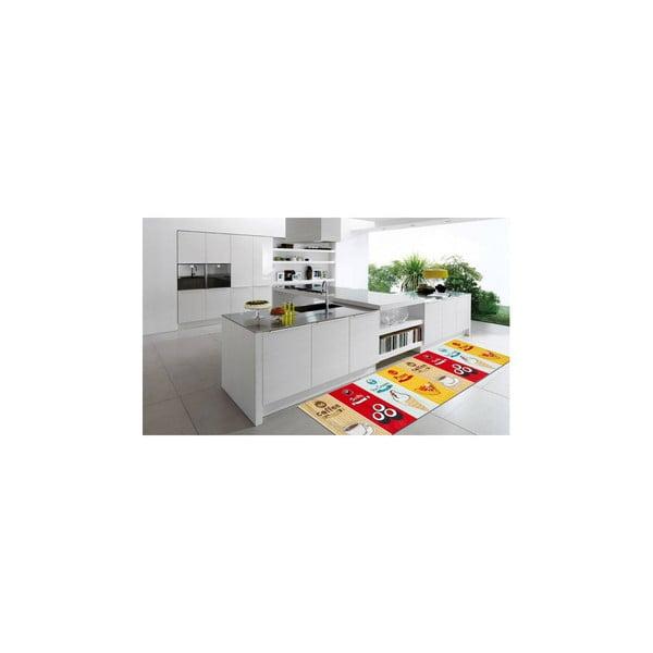 Wytrzymały dywan kuchenny Webtapetti Fastfood, 60x220 cm