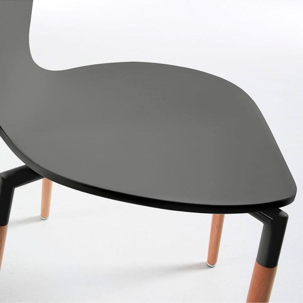 Zestaw 4 szarych krzeseł jadalnianych La Forma Eclectic