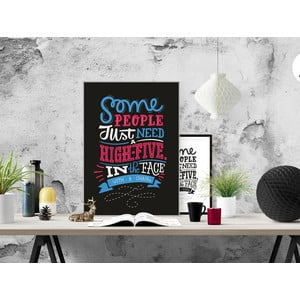 Plakat High Five With a Chair, A3